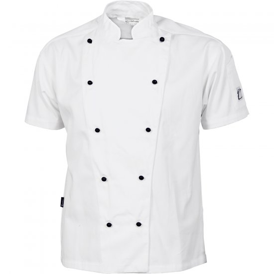 TRADITIONAL CHEF JACKET SHORT SLEEVE WHITE (Size: XS - 4XL)